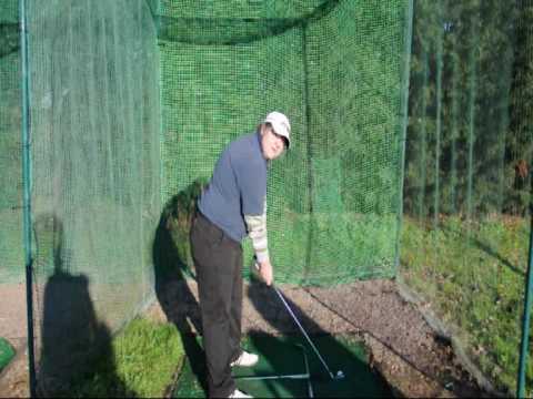 Freddie gets golf tip from Mitch Kierstenson (European Seniors Tour Player)