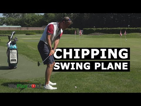 Golf tip: more BACKSPIN or more ROLL with a different chipping swing plane