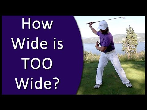 Golf for Beginners – Golf Stance Width (From Golf's #1 Instruction System – RST)