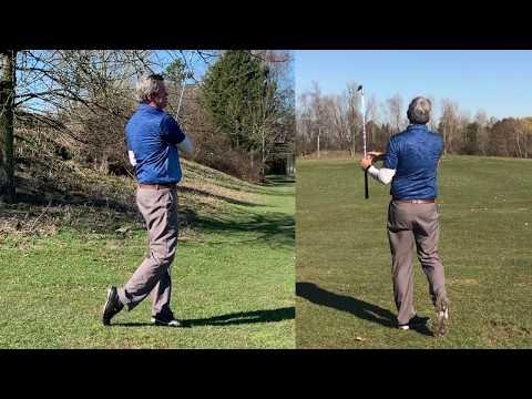 Kirk Junge practice session, free tips – Setup 4 Impact Golf swing.