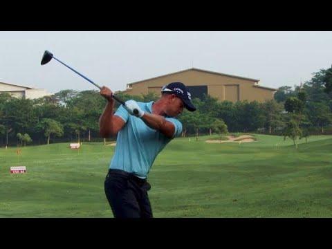 Hendrik Stenson Golf Swing at Driving Range BNI Indonesian Masters 2018