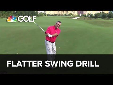 Flatter Swing Drill – SwingFix | Golf Channel