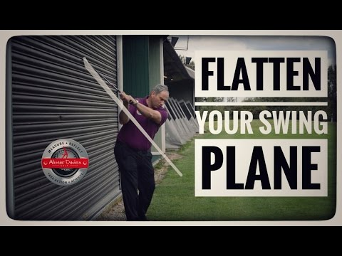 How To Flatten Your Swing Plane| Wall Drill