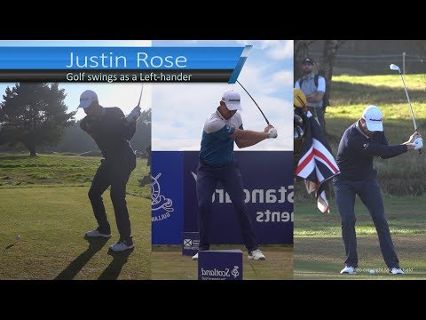 Justin Rose golf swing – as a left handed golfer (Driver, Mid-Iron, Short-Iron) – 2019.