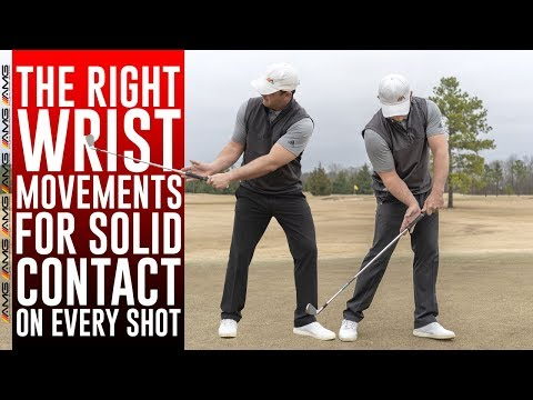 The CORRECT Wrist Movement For Consistent Golf Ball Contact ✅