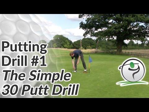Golf Putting Drill #1 – The Simple 30 Putt Drill