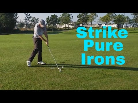 How To Strike Pure Iron Shots   Great Ball Striking With Your irons   Proper Arc Size