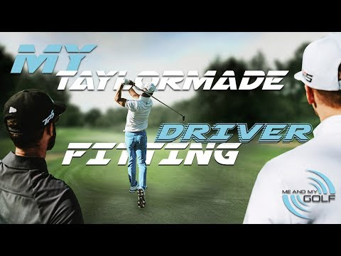 MY TaylorMade M5 DRIVER FITTING    ME AND MY GOLF