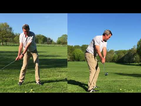 Use the legs properly for more distance in the Single / One Plane Golf swing.