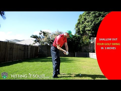 Shallow Out Your Golf Swing: (3 Easy) Moves That Work