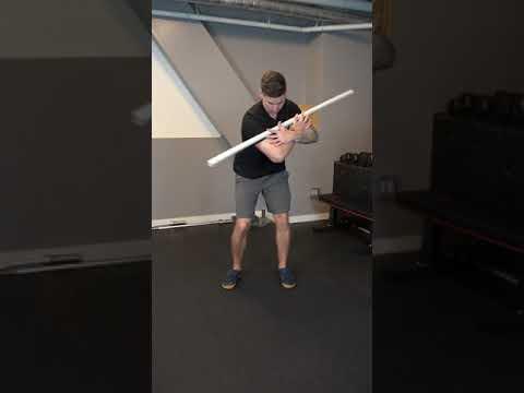 Dowel Golf Swing Drill