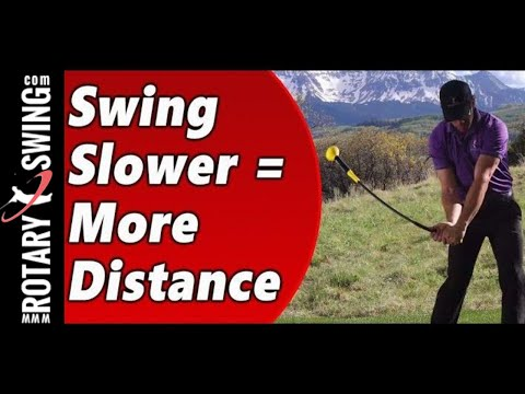 Swing Slower for More Distance in Golf
