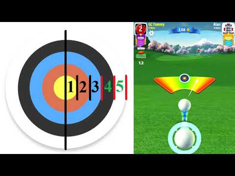 Golf Clash tips, Wind Guide – Learn the ringsystem! Including Elevation, Min-Mid-Max and Powerball