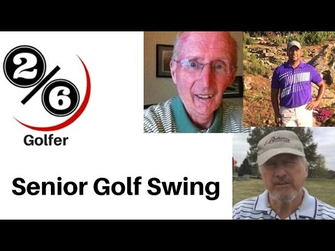 Senior Golf Swing: 1/2 swings for Crazy Power!!