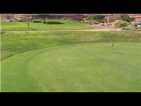 Golfing Tips : Practice Reading Greens for Golf Putting