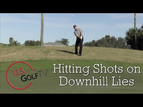 Hitting Shots on a Downhill Lie