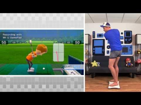 Wii Fit U – Golf Driving Range Gameplay