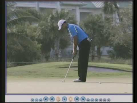 Myths of Golf 21 –  Putting –  straight back and straight through.