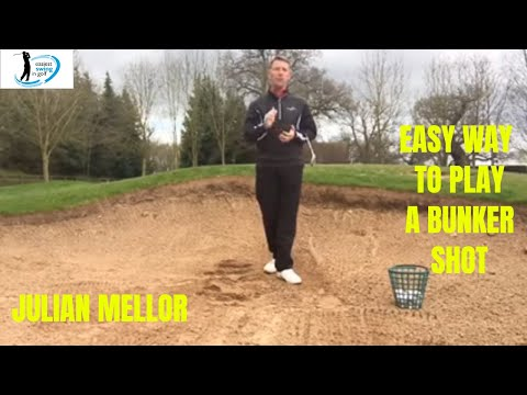 EASIEST WAY TO PLAY A BUNKER SHOT , SIMPLE TECHNIQUE, SENIOR GOLFER SPECIALIST