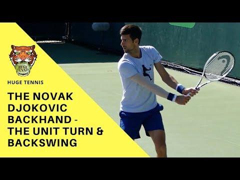 Novak Djokovic Backhand | The Unit Turn And Backswing
