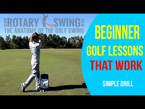 Beginner Golf Lessons That Work By Rotary Swing