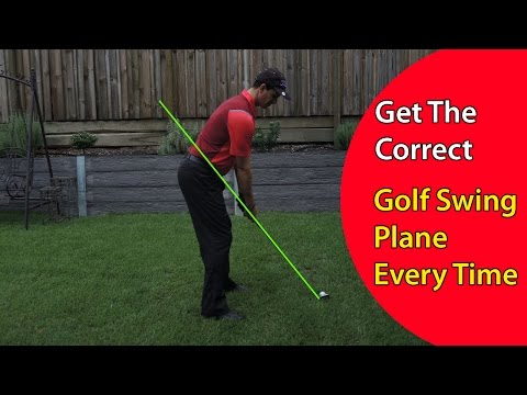 How to Get the Correct Golf Swing Plane Every Time in Your Swing