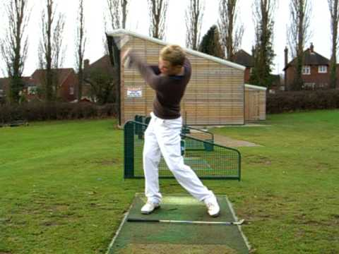 Left-Handed Golf Swing Example