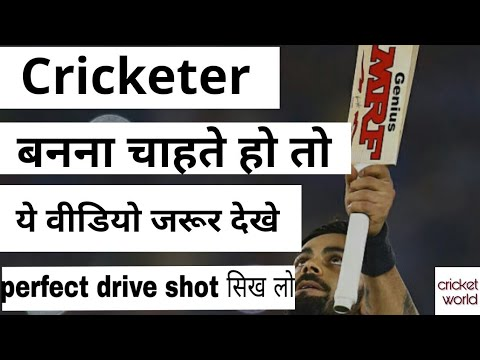 How to play cover drive   straight Drive (Tips in hindi)  cricket world