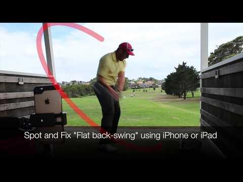 "2018 Pro tips fix wrong golf swing plane ""Flat Back Swing"" with best golf analyzer Swing Profile"