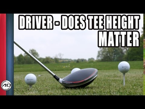 Golf – The Driver – Does Tee Height Matter