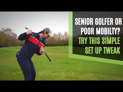 GOLF SWING SET UP TWEAK FOR SENIORS AND POOR MOBILITY GOLFERS TO IMPROVE POWER AND STRIKING