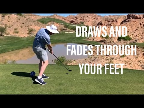 HITTING DRAWS WITH YOUR FEET GOLF TIP