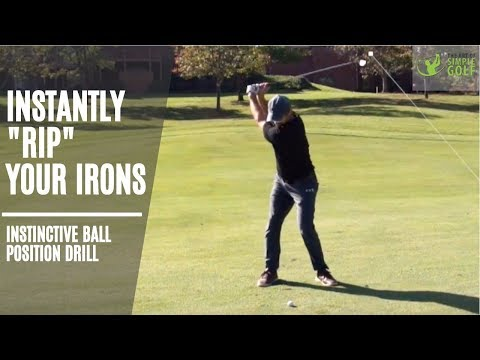 How To Strike Your Irons   Simple Golf Ball Striking Drill