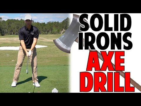 Best Golf Tip To Strike Irons Solid   Axe Drill