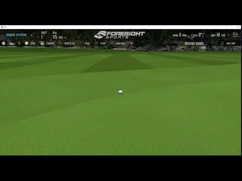 Using the Driving Range on FSX 2018- Stephens Golf Academy Practice Zone