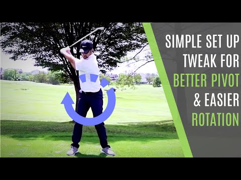 Do This Simple Set Up Tweak For Better Pivot and Easier Rotation In Your Golf Swing
