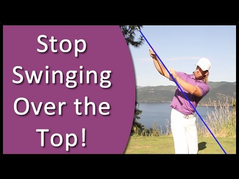 Golf for Beginners – How to Stop Swinging Over the Top and Stop Slicing