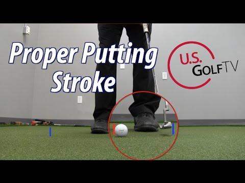 Golf Putting Stroke Tips