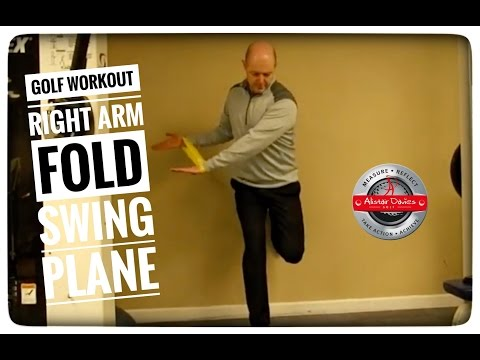 Golf Workout  Improve Right Arm Fold  Swing Plane