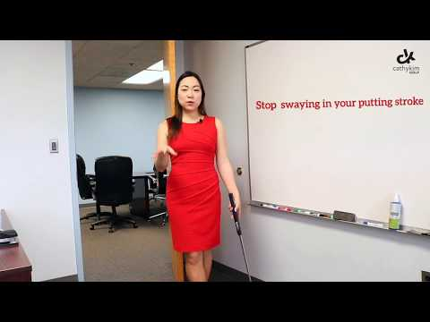 Office golf tips: stop your sway in putting!