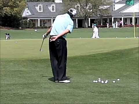 Tim Clark, PGA practicing chipping drill, Left Hand only