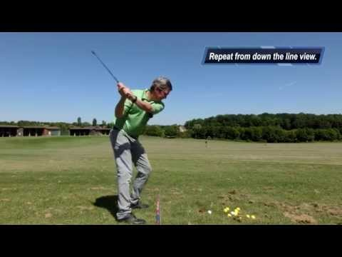 Practicing the Minimalist Single Plane golf swing – Hit straight and Long Golf shots.
