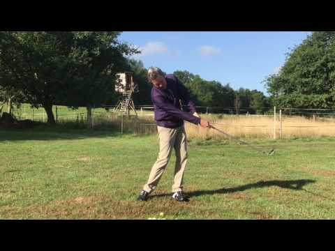 Perfect on plane golf swing with a square clubface. Setup 4 Impact!