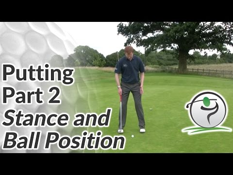 Golf Putting – Part 2 – Stance and Ball Position for a Putt