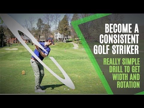 Golf Swing Plane Drill for Consistent Width and Rotation