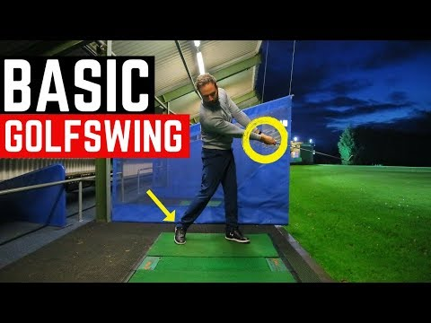 THE MOST BASIC GOLF SWING IN SLOW MOTION