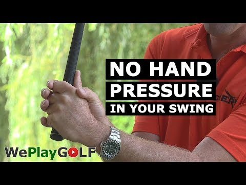 Control the HAND PRESSURE in your golf swing – Practice drill