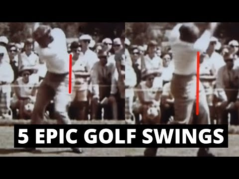 5 EPIC GOLF SWINGS WITH GREAT HIP ACTION