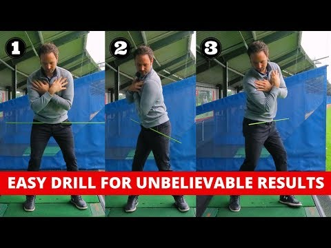THIS IS THE EASIEST DRILL EVER TO IMPROVE YOUR GOLF SWING
