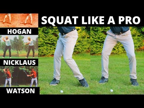 HOW TO SQUAT LIKE THE GREATEST GOLFERS OF ALL TIME